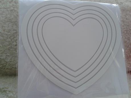 Nálepky na stenu v tvare srdca,
