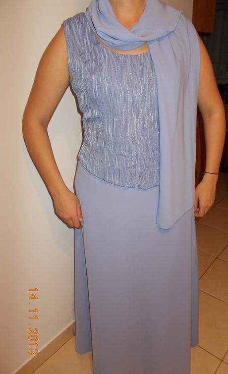 Spoločenské šaty korzet+sukňa+štóla, 42