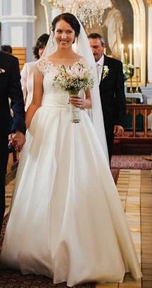 Svadobné šaty pre vysokú nevestu, 38
