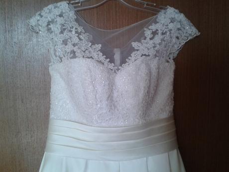 Svadobné šaty pre vysokú nevestu 40, 38