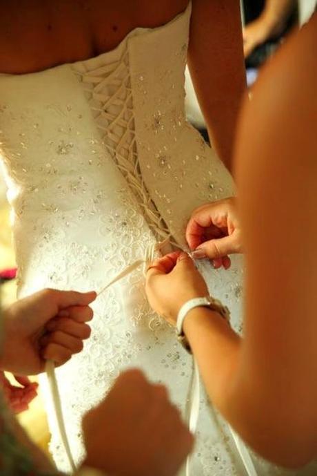 Svatební šaty střih mořská panna vel.34-36, 36