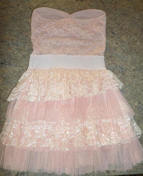 Krajkové romantické šaty, S