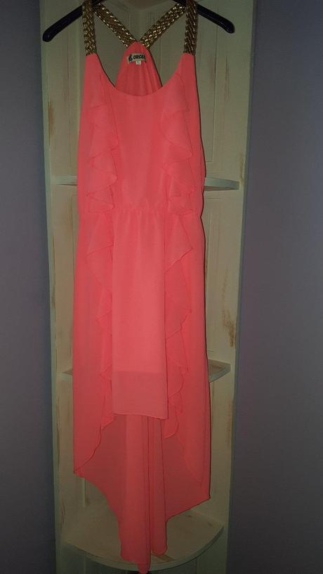 Neonové letné šaty, M