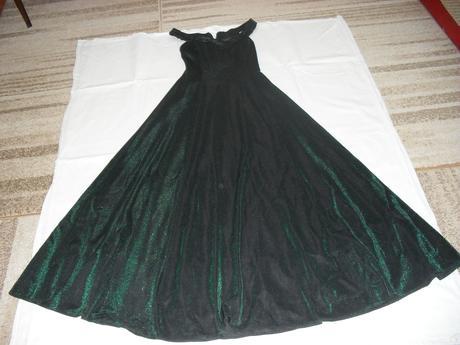 Olivovo-zelené šaty s ružičkami, S