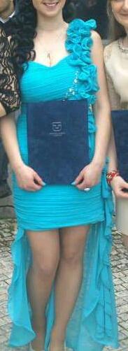 Krátko-dlhé šaty, 40