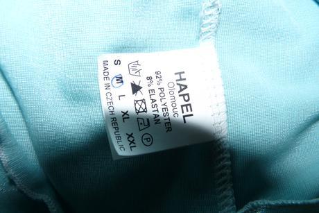 Akvamarínové šaty lesklé, nenošené, 36-38, S-M, 38