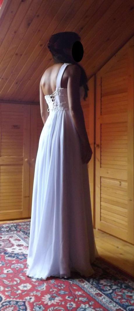 Biele svadobné/spoločenské šaty - ešte s visačkou, 40