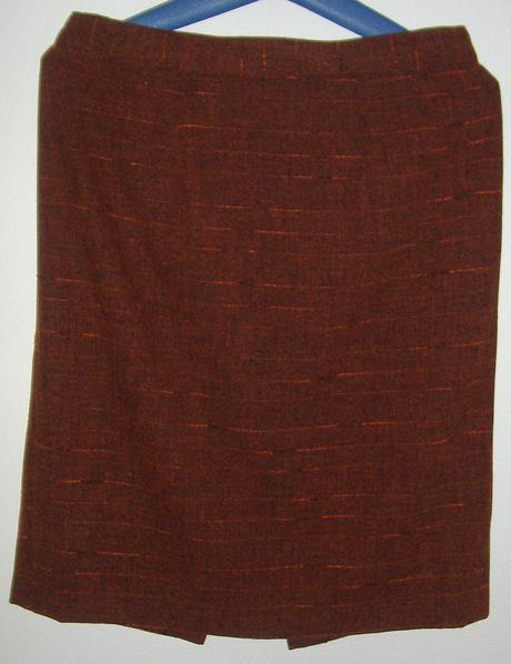 Hnedo oranžová sukňa s poštovným, L