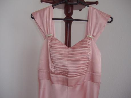 Staroružové saténové šaty , 42