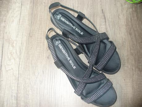 čierne sandálky, 41