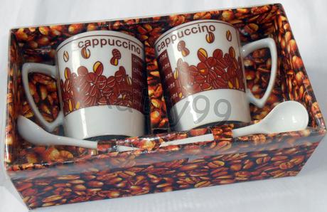 Poháre Cappuccino - nerozbalené,