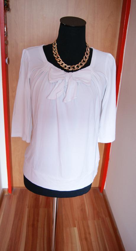 Biele tričko s mašličkou, 40