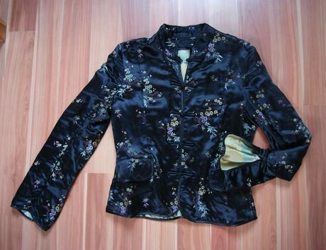čierna čínska blúzka, 40