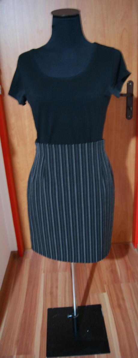 Pásikavá elegantná sukňa, 36