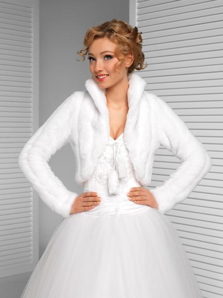 svatební kožíšek, bolerko zimní,