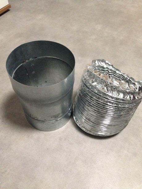 Flexibilné hliníkové potrubie Ø 165 ALUDEC a Spiro,