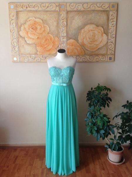 Šaty zelenkavej - mintovej farby, 38