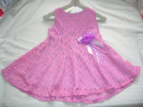 Dievčenské čipkované, spoločenské šaty (nenosené), 86