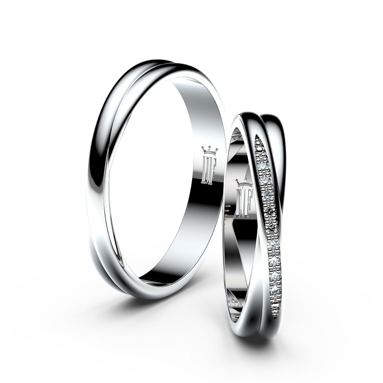 Snubni Prsten Z Bileho Zlata Danfil 16 548 Kc Svatebni Shopy