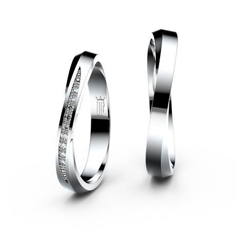 Snubní prsten z bílého zlata - Danfil,