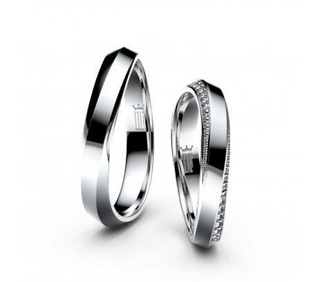 Snubní prsteny z bílého zlata Danfil,