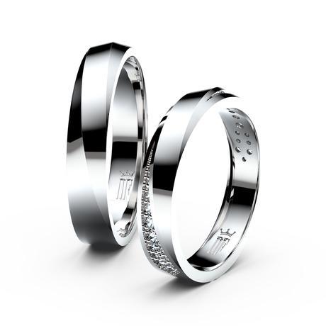 Snubní prsteny z bílého zlata - Danfil,