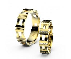 Zlaté snubní prsteny Danfil,