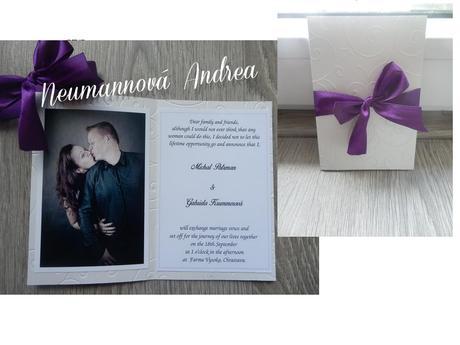 Svatební oznámení Veronika,
