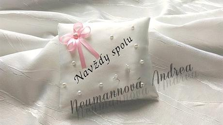 Svatební polštářek- tácek,
