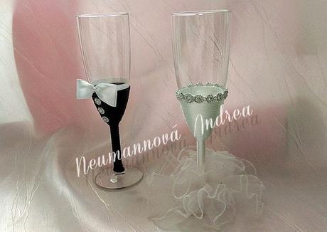 Svatební skleničky Nevěsta/Ženich,