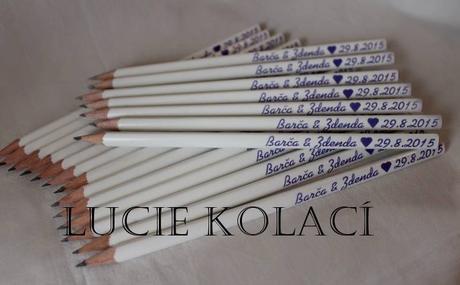 Svatební tužky s potiskem,