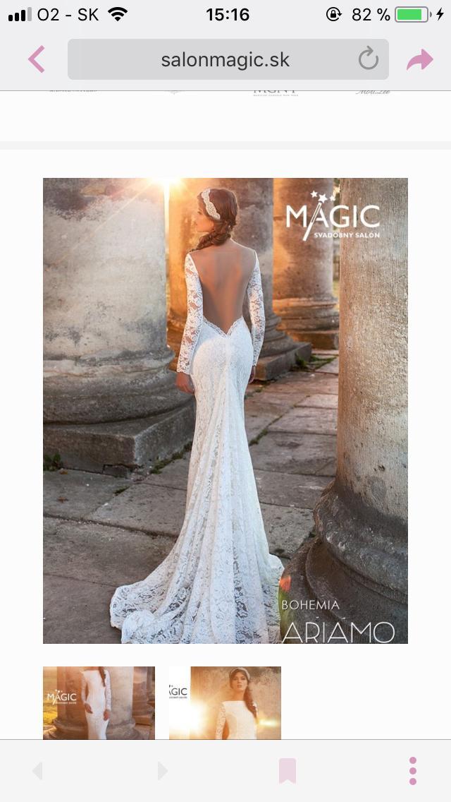 6a842b4f543c Svadobné šaty s priehľadným chrbtom