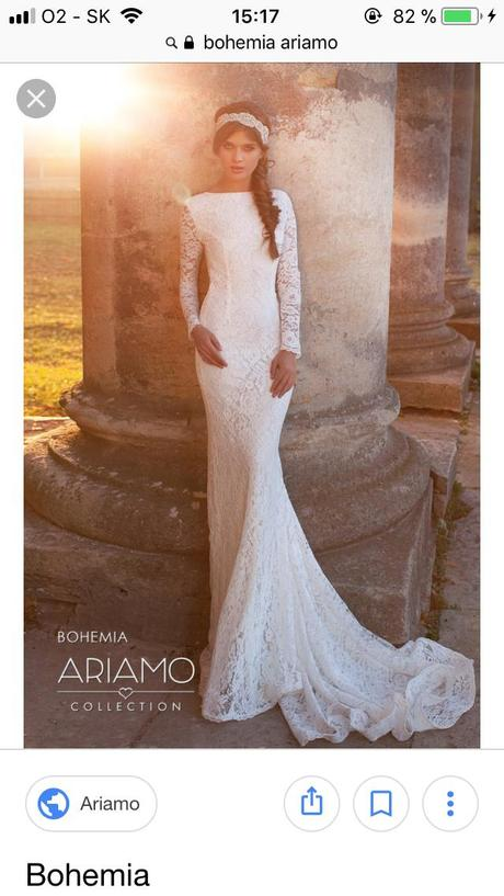 Svadobné šaty s priehľadným chrbtom, 36