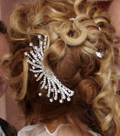 Svatební vlasový hřeben,