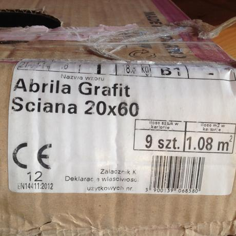 Vysokoleskly sedy obklad Abrila Grafit Sciana20x60,