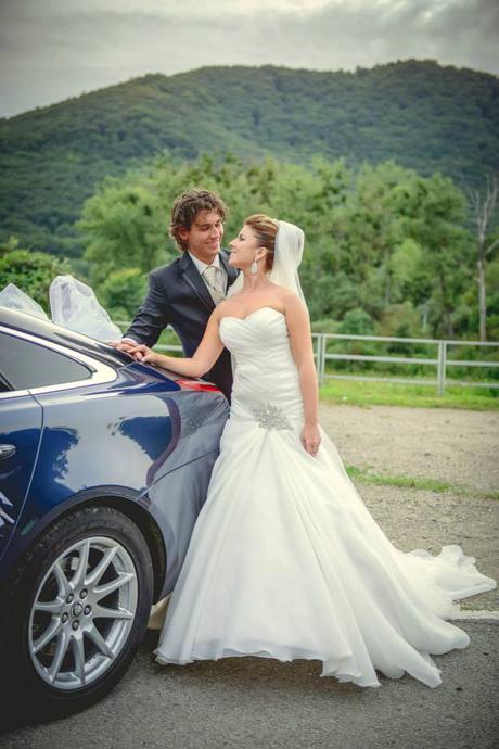 Svadobné šaty ručne šité originálne, 38