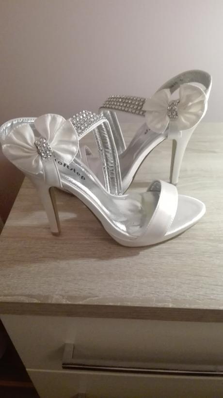Smotankové svadobné topánky, 38