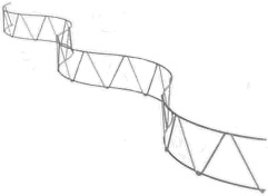 Oceľový had - dištančný pás ,