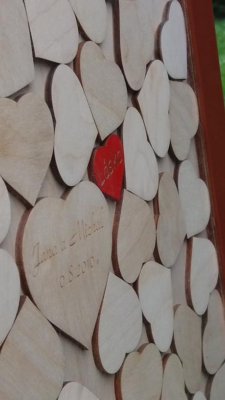 Dřevěné svatební obrazy na přání,
