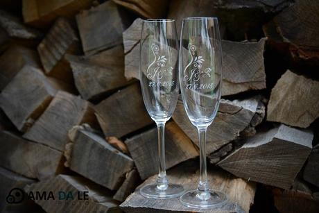 Gravírované skleničky,