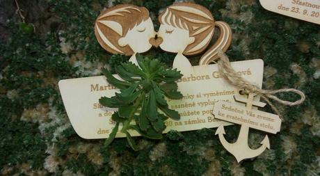 Rustic svatba - dřevěné svatební oznámení na míru,