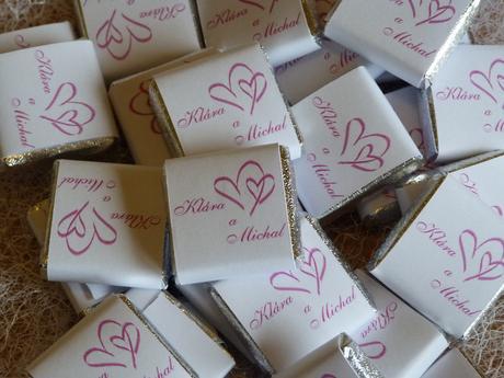 Svatební čokoláda, svatební čokoládka,