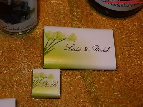 Svatební čokoláda, svatební čokoládka - 3 gramáže,