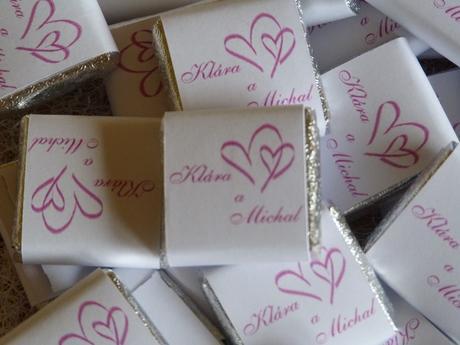 Svatební čokoládka Barry Callebaut  - 5,5g, 8g 20g,