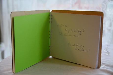 svatební kniha hostů s gravurou na přání,