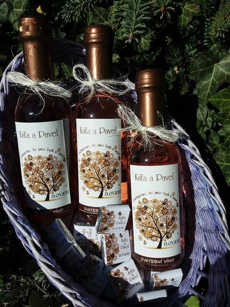 Svatební mini víno,