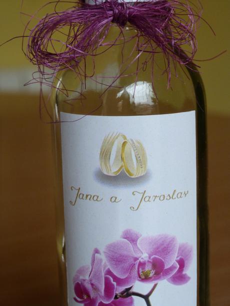 Svatební minivína, svatební vína a čokoládky,