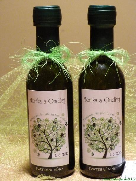 Svatební minivíno, svatební víno,