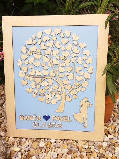 Svatební strom - kniha hostů,