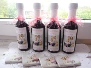 svatební vína s originální etiketou,